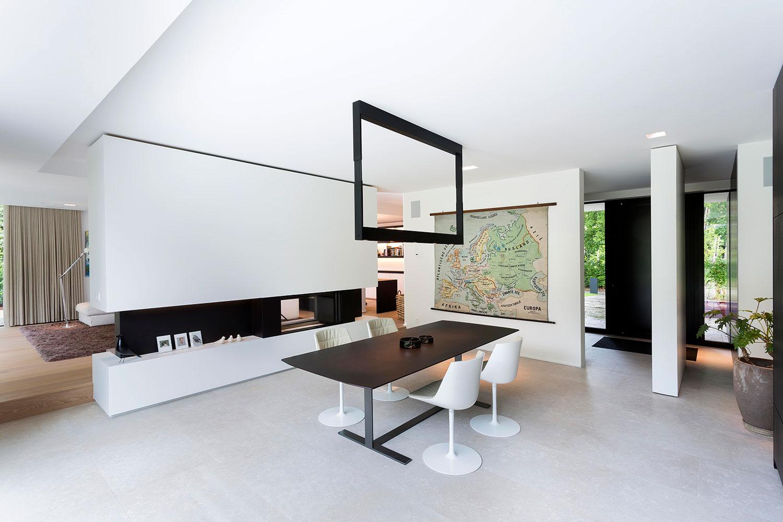 Totaal interieur ontwerp van een nieuwbouw villa